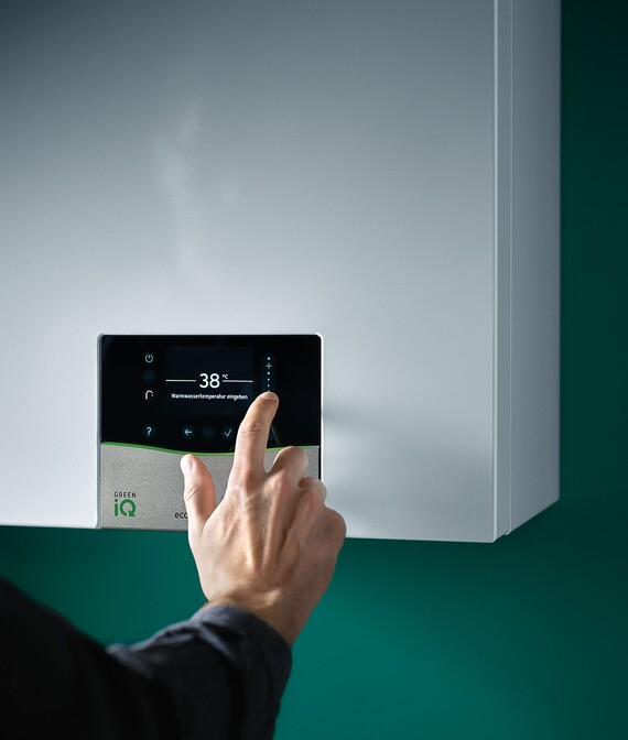 Using the touch display on the wall-hung boiler ecoTEC exclusive